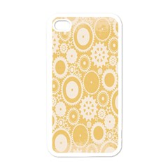 Wheels Star Gold Circle Yellow Apple Iphone 4 Case (white) by Alisyart
