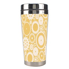 Wheels Star Gold Circle Yellow Stainless Steel Travel Tumblers by Alisyart