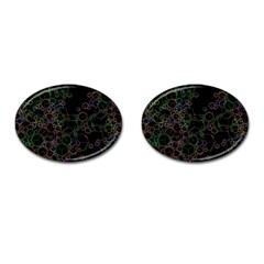 Boxs Black Background Pattern Cufflinks (oval) by Simbadda
