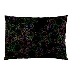 Boxs Black Background Pattern Pillow Case (two Sides) by Simbadda