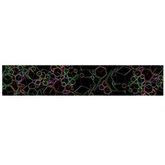Boxs Black Background Pattern Flano Scarf (large) by Simbadda