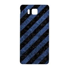 Stripes3 Black Marble & Blue Stone Samsung Galaxy Alpha Hardshell Back Case by trendistuff