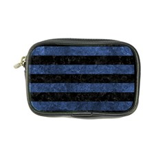 Stripes2 Black Marble & Blue Stone Coin Purse by trendistuff