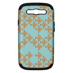 Fish Animals Brown Blue Line Sea Beach Samsung Galaxy S Iii Hardshell Case (pc+silicone) by Alisyart