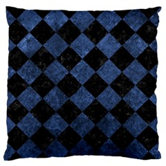 Square2 Black Marble & Blue Stone Standard Flano Cushion Case (two Sides) by trendistuff