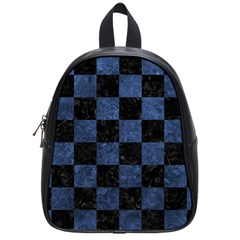 Square1 Black Marble & Blue Stone School Bag (small) by trendistuff