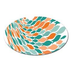 Fish Color Rainbow Orange Blue Animals Sea Beach Oval Magnet by Alisyart