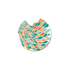 Fish Color Rainbow Orange Blue Animals Sea Beach Golf Ball Marker (4 Pack) by Alisyart
