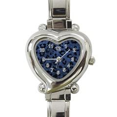 Skin5 Black Marble & Blue Stone Heart Italian Charm Watch by trendistuff