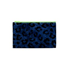 Skin5 Black Marble & Blue Stone Cosmetic Bag (xs) by trendistuff