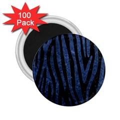 Skin4 Black Marble & Blue Stone (r) 2 25  Magnet (100 Pack)  by trendistuff