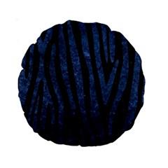 Skin4 Black Marble & Blue Stone (r) Standard 15  Premium Round Cushion  by trendistuff