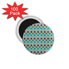 Large Circle Rainbow Dots Color Red Blue Pink 1 75  Magnets (100 Pack)  by Alisyart