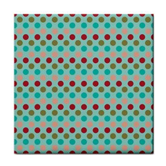 Large Circle Rainbow Dots Color Red Blue Pink Face Towel by Alisyart