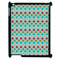 Large Circle Rainbow Dots Color Red Blue Pink Apple Ipad 2 Case (black) by Alisyart