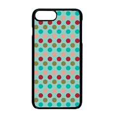 Large Circle Rainbow Dots Color Red Blue Pink Apple Iphone 7 Plus Seamless Case (black) by Alisyart