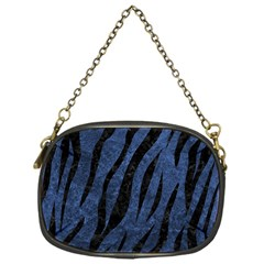 Skin3 Black Marble & Blue Stone (r) Chain Purse (one Side) by trendistuff