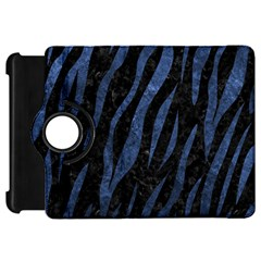 Skin3 Black Marble & Blue Stone Kindle Fire Hd Flip 360 Case by trendistuff