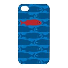 Fish Line Sea Beach Swim Red Blue Apple Iphone 4/4s Hardshell Case by Alisyart