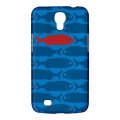 Fish Line Sea Beach Swim Red Blue Samsung Galaxy Mega 6 3  I9200 Hardshell Case by Alisyart