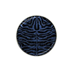 Skin2 Black Marble & Blue Stone Hat Clip Ball Marker by trendistuff