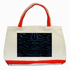 Skin2 Black Marble & Blue Stone Classic Tote Bag (red) by trendistuff