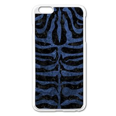Skin2 Black Marble & Blue Stone Apple Iphone 6 Plus/6s Plus Enamel White Case by trendistuff