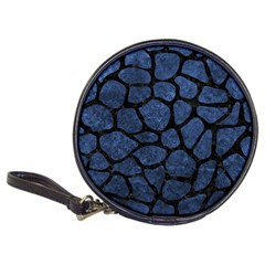 Skin1 Black Marble & Blue Stone Classic 20 Cd Wallet by trendistuff