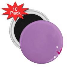 Purple Flagred White Star 2 25  Magnets (10 Pack)  by Alisyart