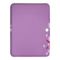 Purple Flagred White Star Samsung Galaxy Tab 4 (10 1 ) Hardshell Case  by Alisyart