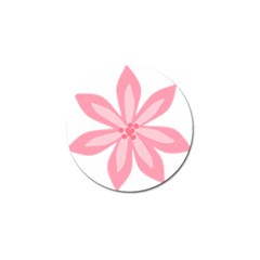 Pink Lily Flower Floral Golf Ball Marker by Alisyart