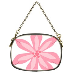 Pink Lily Flower Floral Chain Purses (one Side)  by Alisyart
