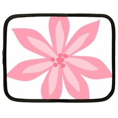 Pink Lily Flower Floral Netbook Case (xl)  by Alisyart