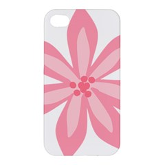 Pink Lily Flower Floral Apple Iphone 4/4s Premium Hardshell Case by Alisyart
