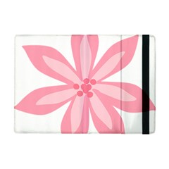 Pink Lily Flower Floral Apple Ipad Mini Flip Case by Alisyart