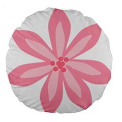 Pink Lily Flower Floral Large 18  Premium Round Cushions by Alisyart