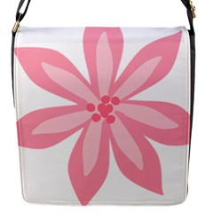 Pink Lily Flower Floral Flap Messenger Bag (s) by Alisyart