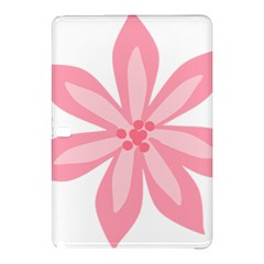 Pink Lily Flower Floral Samsung Galaxy Tab Pro 10 1 Hardshell Case by Alisyart