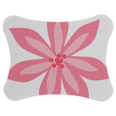 Pink Lily Flower Floral Jigsaw Puzzle Photo Stand (bow) by Alisyart