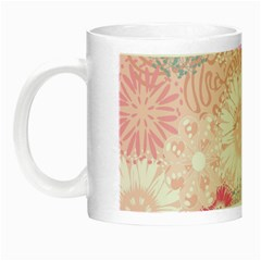 Flower Floral Sunflower Rose Pink Night Luminous Mugs by Alisyart