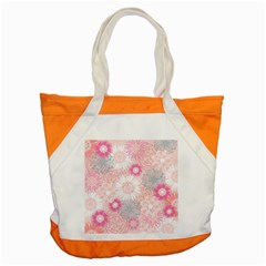 Flower Floral Sunflower Rose Pink Accent Tote Bag by Alisyart