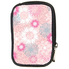 Flower Floral Sunflower Rose Pink Compact Camera Cases by Alisyart