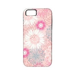 Flower Floral Sunflower Rose Pink Apple Iphone 5 Classic Hardshell Case (pc+silicone) by Alisyart