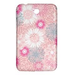 Flower Floral Sunflower Rose Pink Samsung Galaxy Tab 3 (7 ) P3200 Hardshell Case  by Alisyart