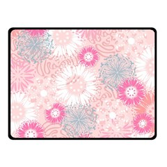 Flower Floral Sunflower Rose Pink Double Sided Fleece Blanket (small)  by Alisyart