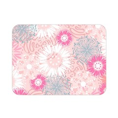 Flower Floral Sunflower Rose Pink Double Sided Flano Blanket (mini)  by Alisyart
