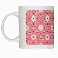 Pink Flower Floral White Mugs by Alisyart