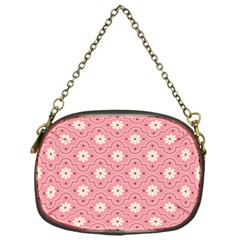 Pink Flower Floral Chain Purses (one Side)  by Alisyart