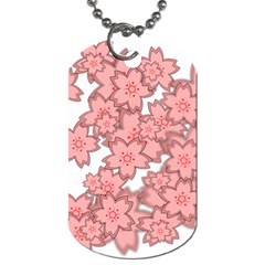 Flower Floral Pink Dog Tag (two Sides) by Alisyart