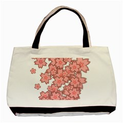 Flower Floral Pink Basic Tote Bag by Alisyart